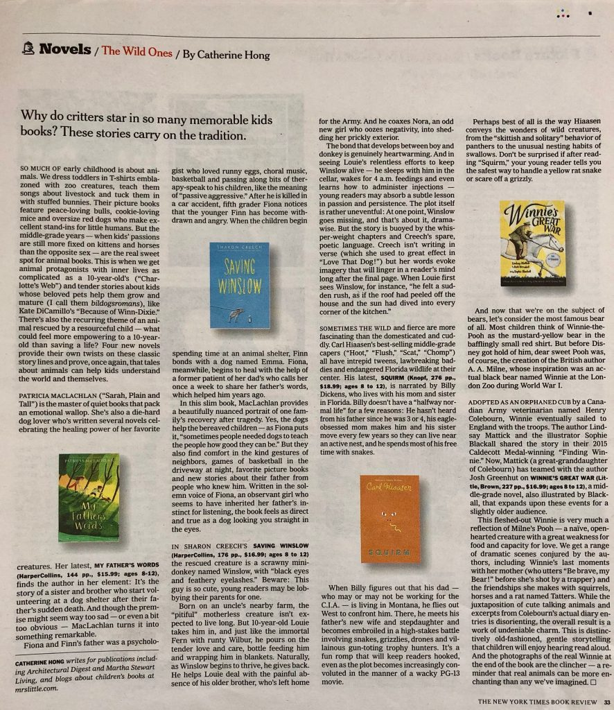 0036d499add I reviewed four middle grade books for the latest special children s book  section of the New York Times Book Review  My Father s Words by Patricia ...